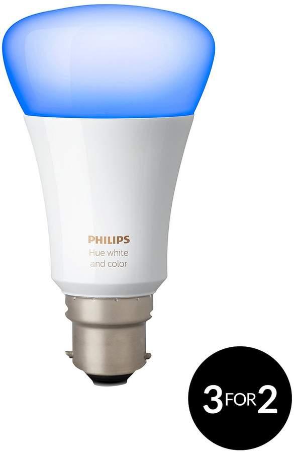 Hue White And Colour Ambiance B22 LED Single Bulb