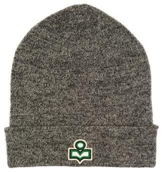 Isabel Marant Hart Logo Wool Beanie Hat - Womens - Grey