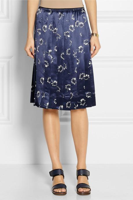 Marc Jacobs Daisy-print satin skirt