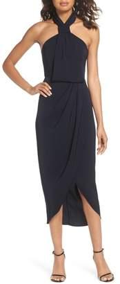 Shona Joy Knotted Tulip Hem Midi Dress