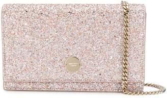 Jimmy Choo Florence glitter clutch