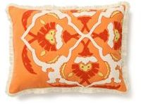Suzani Flame Pillow, Melon