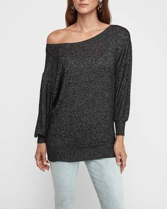 Express Soft One Shoulder Tunic Top