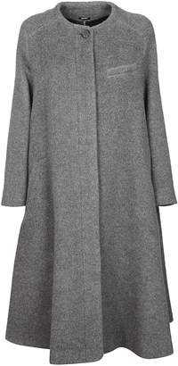 Jil Sander Navy Collarless Coat