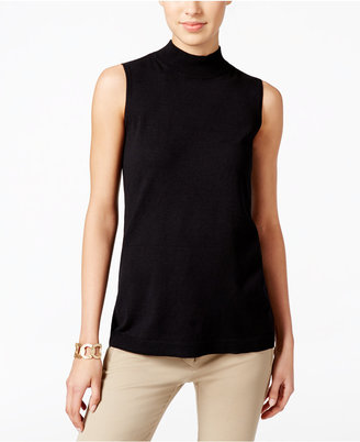 Charter Club Mock-Turtleneck Knit Shell, Only at Macy's $49.50 thestylecure.com