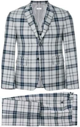 Thom Browne Tartan Check Classic Suit And Tie
