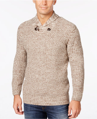 Weatherproof Vintage Men's Shawl-Collar Sweater, Classic Fit $90 thestylecure.com