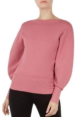 Ted Baker Popsah Balloon-Sleeve Sweater