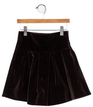Il Gufo Girls' Velvet A-Line Skirt