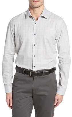 Robert Barakett Cecil Print Flannel Sport Shirt