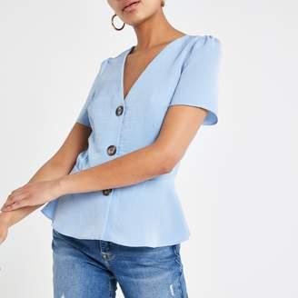 River Island Womens Light Blue tea top
