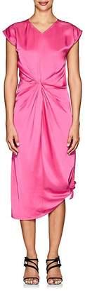 Helmut Lang Women's Twist-Front Cotton Satin Midi-Dress