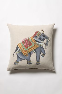 Painted Elephant Pillow