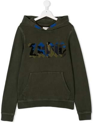 Zadig & Voltaire Kids TEEN logo patch hoodie