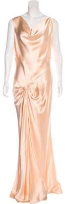 Christian Dior Silk Evening Gown