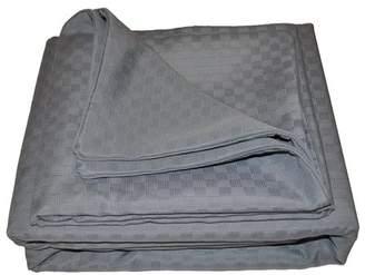 Natural Comfort Matelasse Duvet Cover ; Graphite Blue ; Queen
