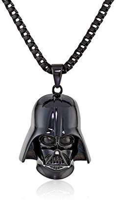 Star Wars Amazon Collection Jewelry Unisex 3D Darth Vader Ion-Plated Stainless Steel Pendant Necklace