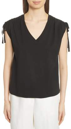 Robert Rodriguez Ruched Shoulder Tee