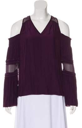Ramy Brook Cold Shoulder Long Sleeve Top