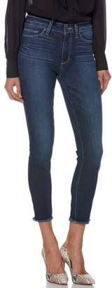 Paige Transcend Vintage - Hoxton High Waist Frayed Crop Skinny Jeans