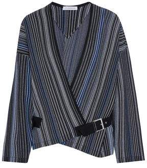 J.W.Anderson Wrap-Effect Buckled Jacquard Jacket