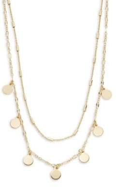 Panacea Disc Charm Layered Y-Necklace