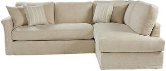 One Kings Lane Reese Right-Facing Sectional - Natural Linen