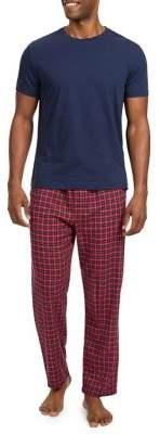 Nautica Two-Piece Plaid Pajama Set