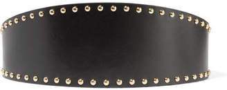Alexander McQueen Studded Leather Waist Belt - Black