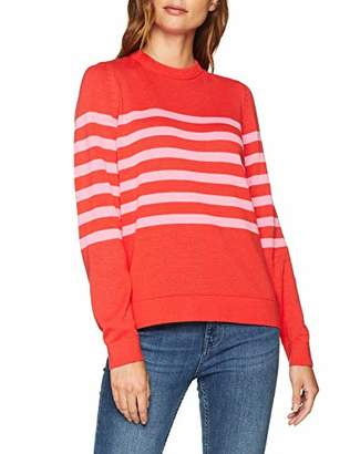 Gant Women's O1. Striped Cotton Crew Jumper,(Manufacturer Size: X-Large)