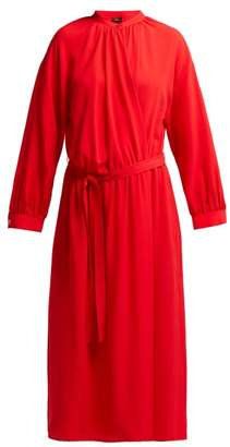 Joseph Nolan Silk Georgette Midi Dress - Womens - Red