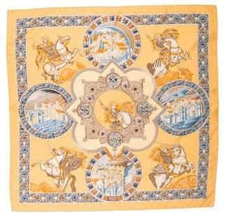 Hermes Le Triomphe Du Paladin Silk Scarf