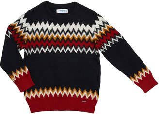 Mayoral Boy's Zigzag jacquard Sweater, Size 4-8