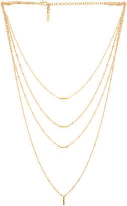 Luv Aj Ombre Bar Multi Charm Necklace