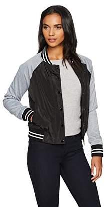 Jason Maxwell Womens Outerwear Women's Varsity Style Bomber Jacket