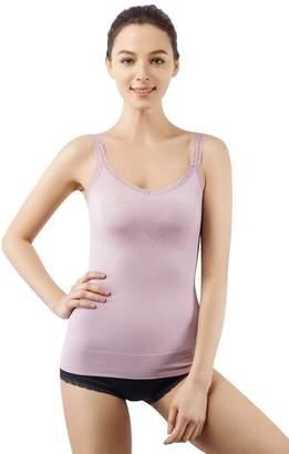 5db8962bf MD Women Cami Shaper Lace Strap Shapewear Tank Top DarkNudeXXXL