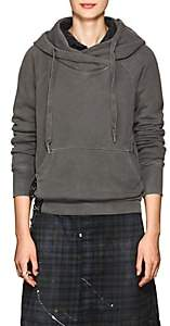 NSF Women's Mildred Corset-Detailed Cotton Hoodie - Black