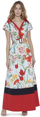 Alice + Olivia Margot Short Sleeve Maxi Dress