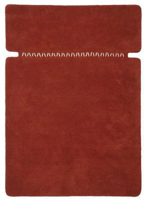 GAN Rugs Remiendos 5'7x7'11 Burgundy