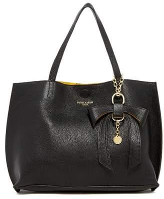 N. Persaman New York Delilah Leather Tote N' Convertible Clutch