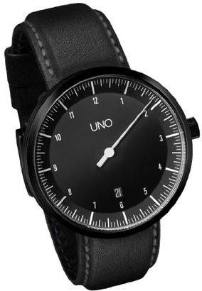 Botta-Design Uno自動Black Edition – One Hand Men 's Date Watch by – 619010be