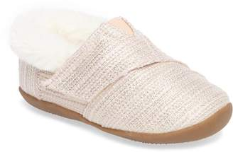 974214df7 Toms Tiny Faux Fur Metallic Slipper