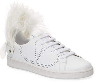 Valentino Feather-Heel Calf Leather Sneakers