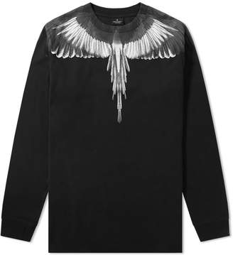 Marcelo Burlon County of Milan Long Sleeve Wings Shoulder Tee
