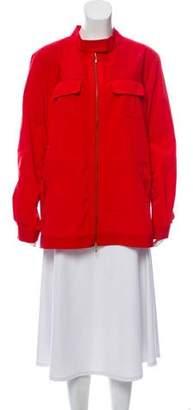 St. John Windbreaker Zip Front Jacket