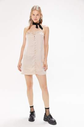 Finders Keepers Cristina Button-Front Slip Dress
