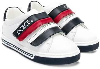 Dolce & Gabbana (ドルチェ & ガッバーナ) - Dolce & Gabbana Kids logo print sneakers