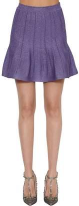 Alberta Ferretti Lurex Knit Skirt