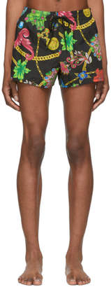 Versace Underwear Multicolor Floral Print Swim Shorts