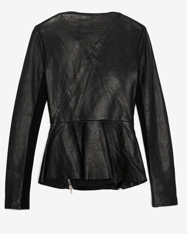 Willow Exclusive Zippered Leather Peplum Jacket
